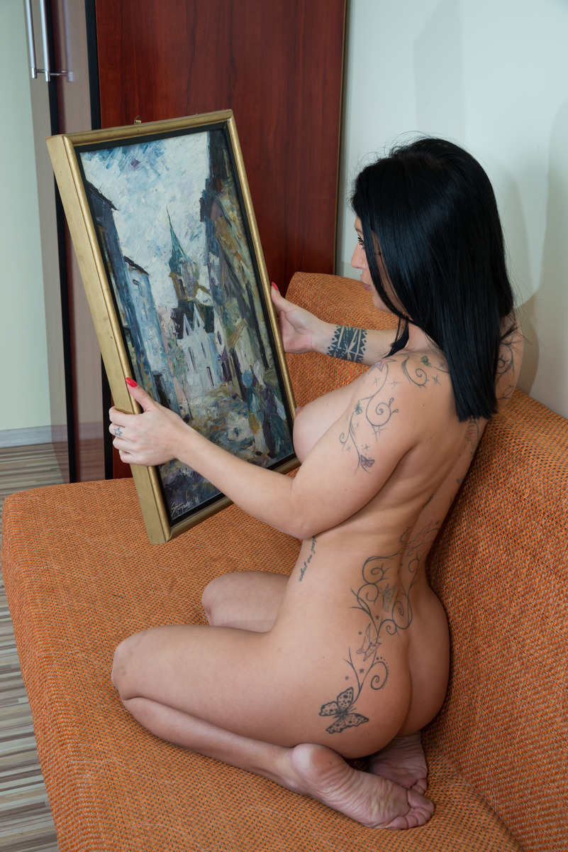 Nude Woman Art Critic Painting