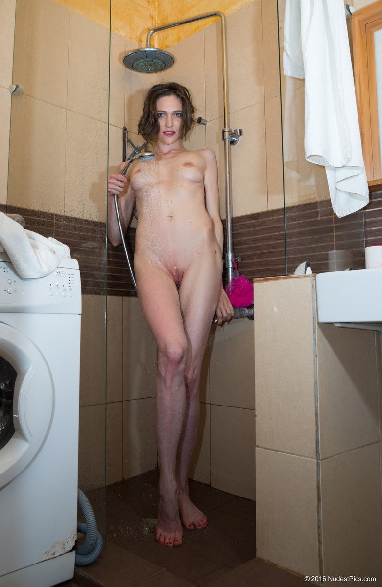 Tall Beautiful Ex-Wife Showering Naked