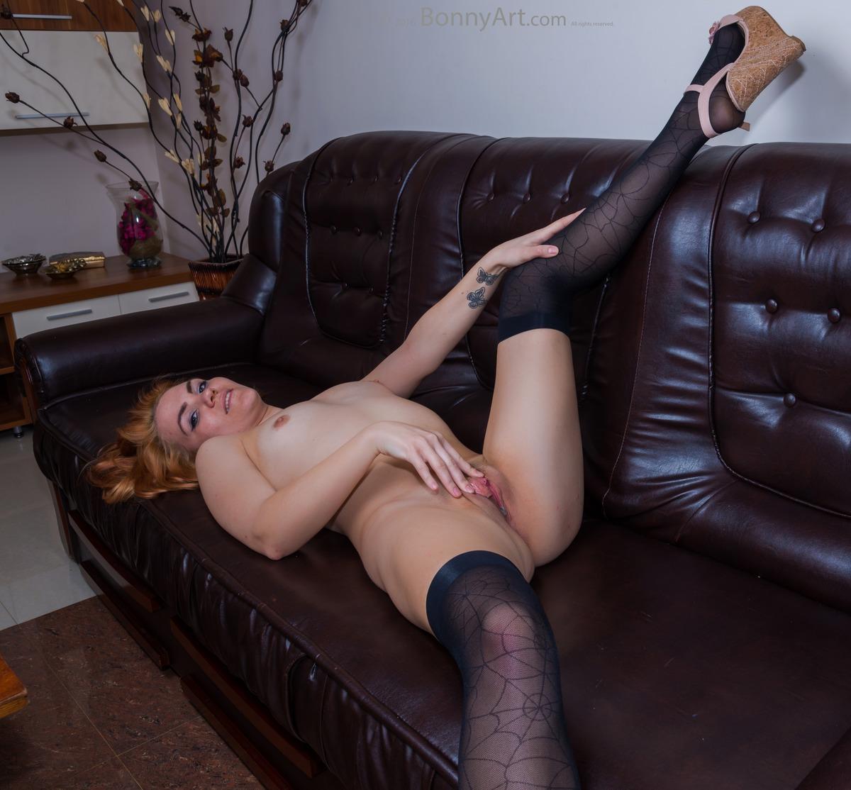 Moldavian Girl Spreading Legs and Pussy