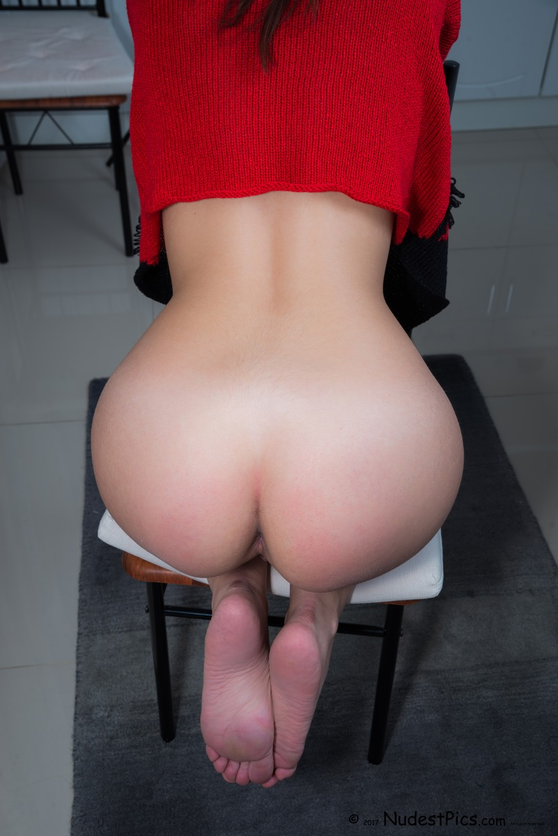 Heart Shaped White Butt on Chair