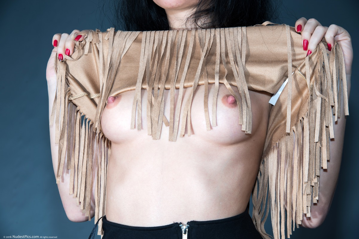 Flashing Pretty Round Small Breasts American Indian Style