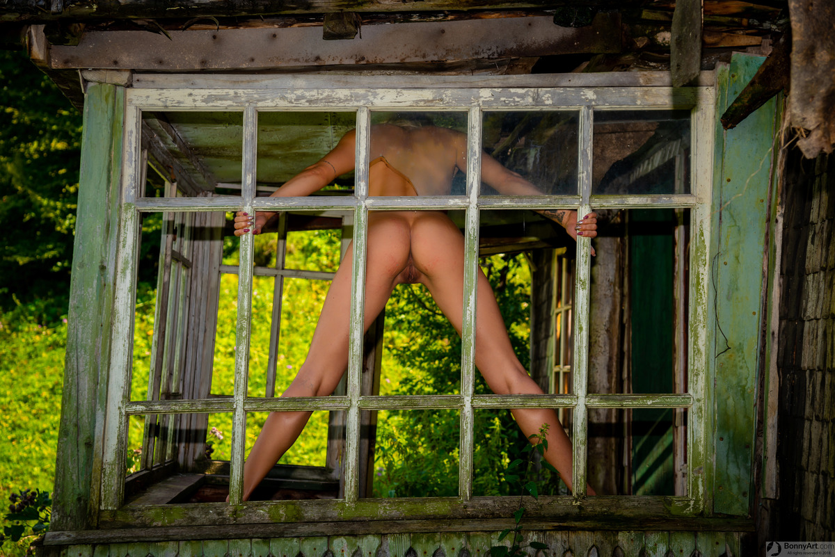 Nude Bent Over Model at the Old Windows